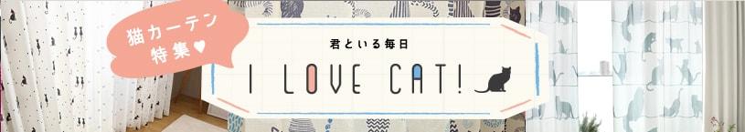 猫のカーテンバナー