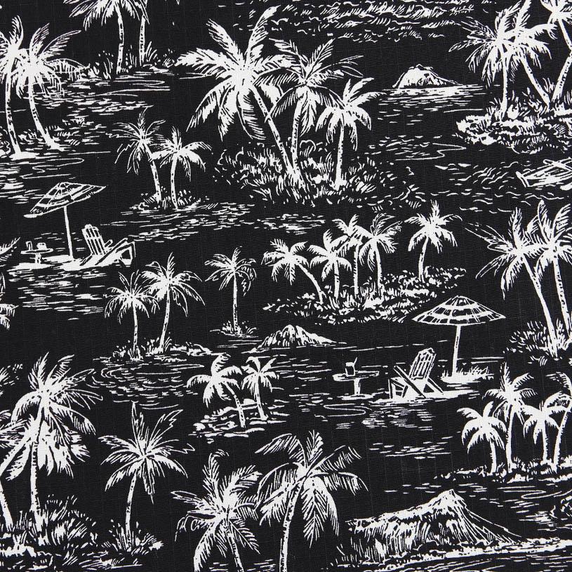メンズカーテン マリン ~アイランドビーチ~ ブラック