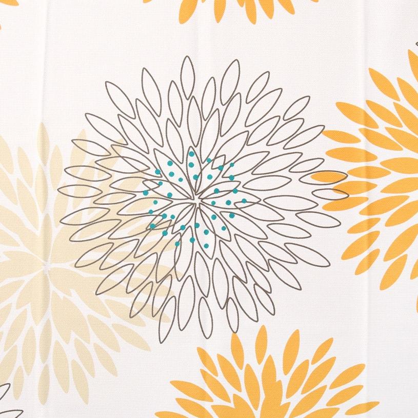 北欧デザインカーテン ~マム~ オレンジ