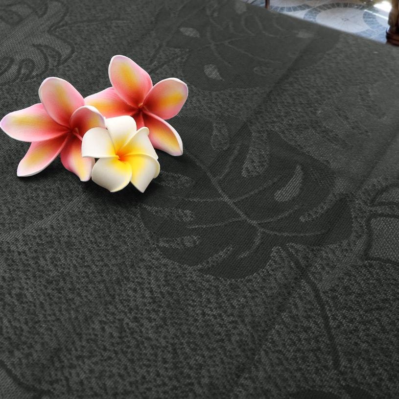 マハナ ハワイアンズ 〜モンステラレース〜 ブラック