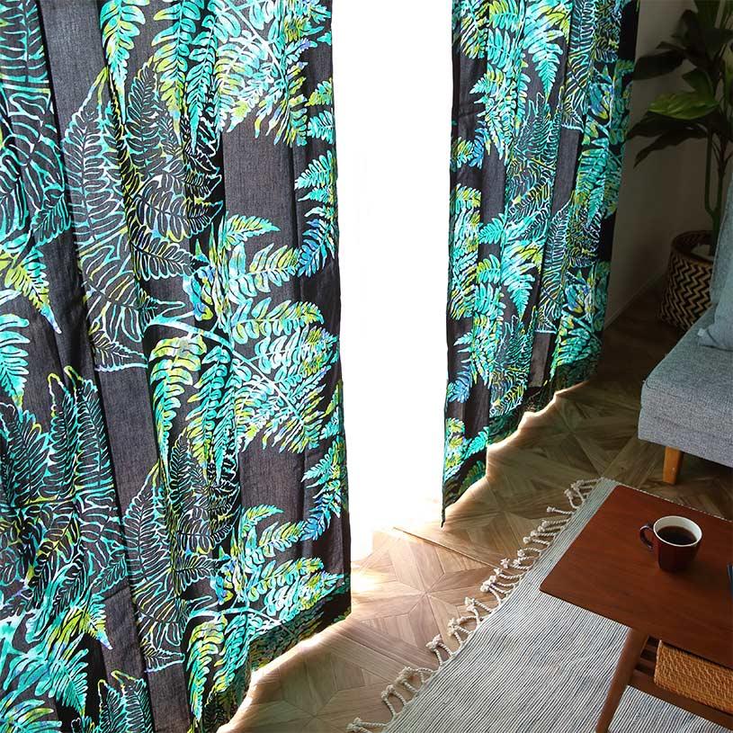 カーテン オーダーカーテン ~Kakano(カカノ)~ブラックグリーン