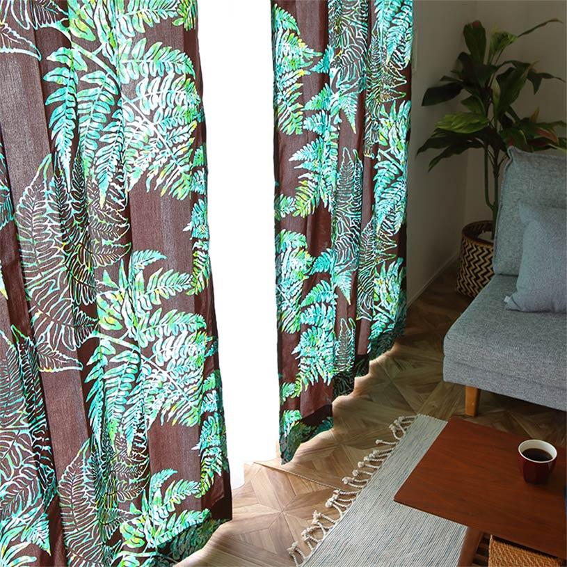 カーテン オーダーカーテン ~Kakano(カカノ)~ブラウンアクア