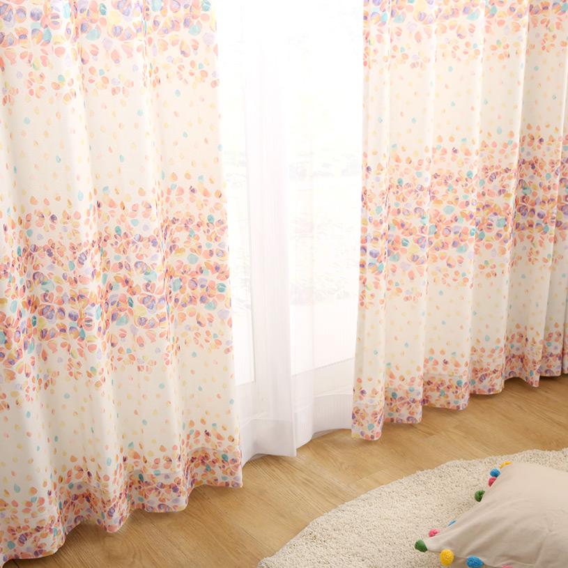 カーテン オーダーカーテン フェミニン ~ロゼ~ オレンジ