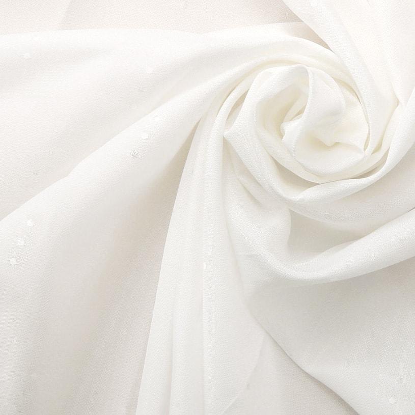 レースカーテン オーダーカーテン 白(ホワイト) プライバシーレース アンフォルメ ドロップ