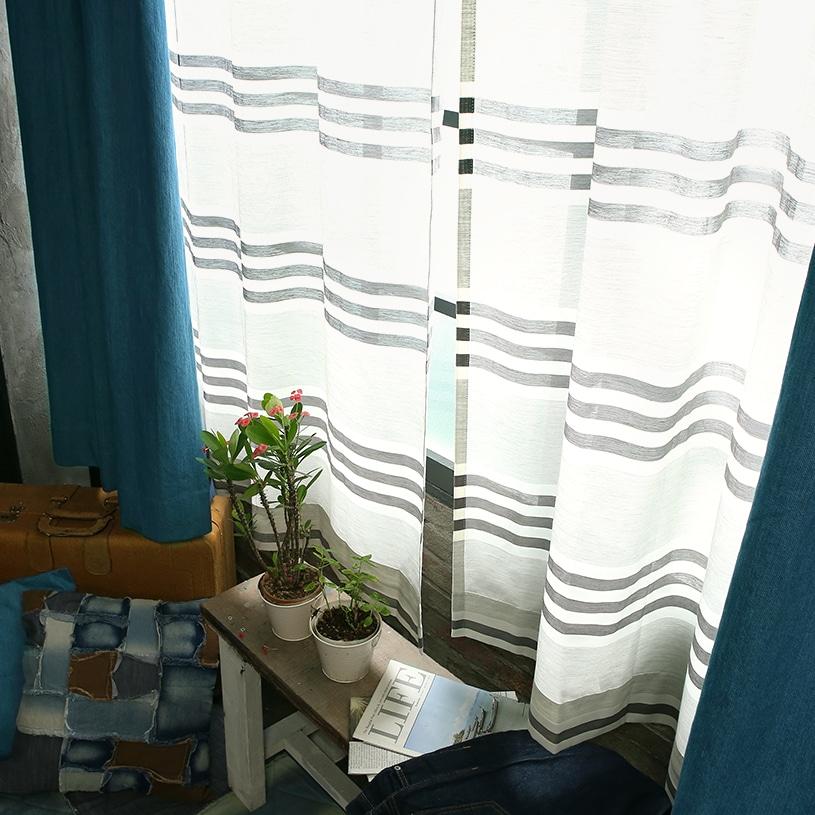 メンズカーテン ベイライフ ボイルレース 〜パシフィック〜 グレー