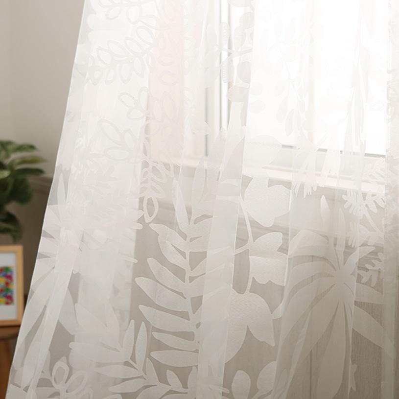 カーテン オーダーカーテン スミノエ デザインライフ ~ヨセウエボイル~ホワイト