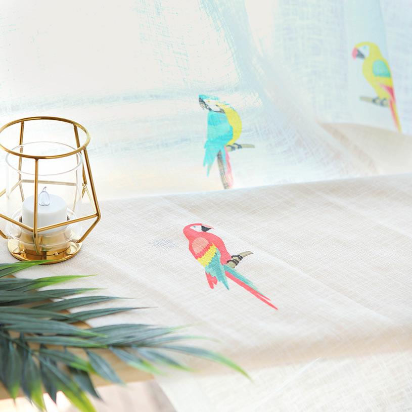 カーテン オーダーカーテン ~Hawaiian Bird/ハワイアンバード~ミックス