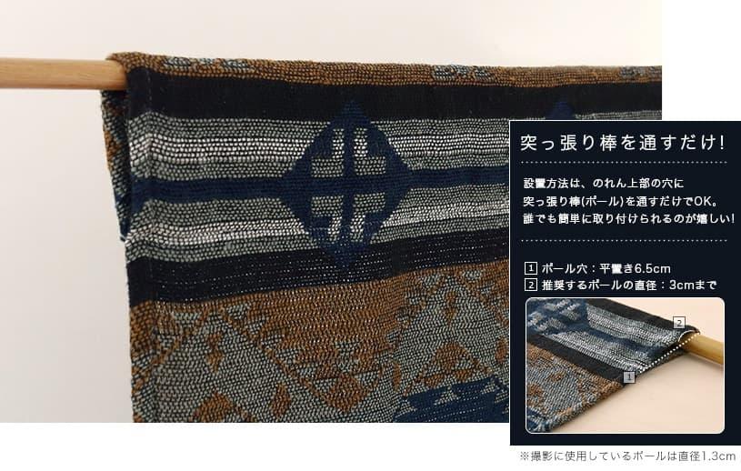 布のれん 〜ニムラナ〜ブルー