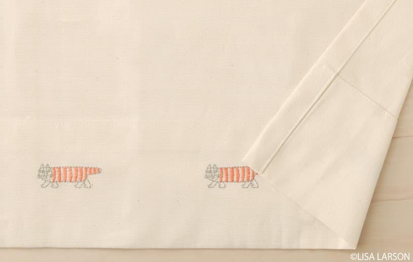 アスワン リサ・ラーソン 〜マイキー(刺繍)〜 コーラルピンク
