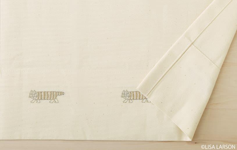 アスワン リサ・ラーソン 〜マイキー(刺繍)〜 ブラウン