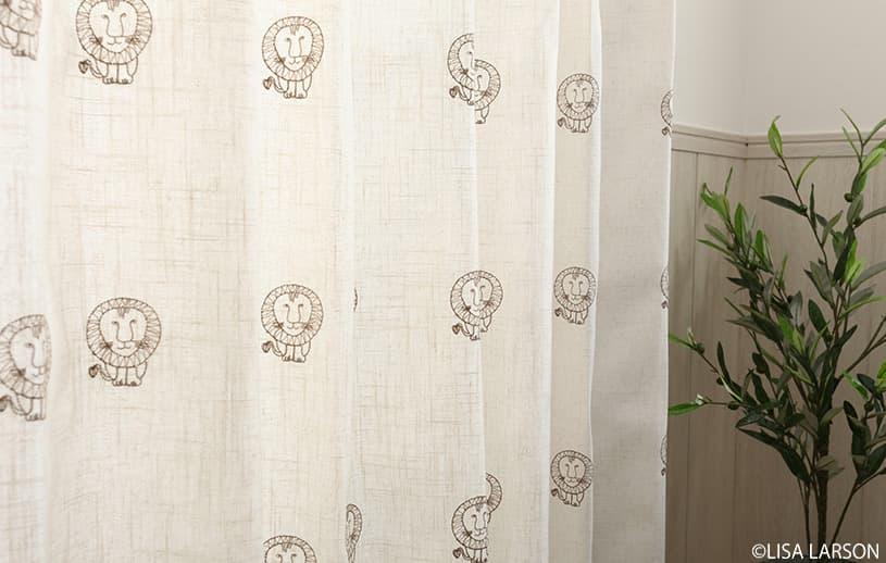 アスワン リサ・ラーソン 〜ライオン(刺繍)〜 ブラウン