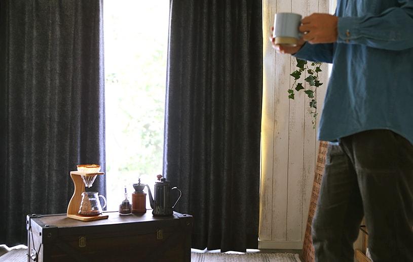 メンズカーテン ベイライフ 〜ブレイク〜 ネイビー
