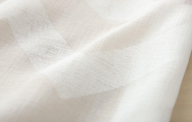 メンズカーテン ベイライフ ボイルレース 〜ウェーブ〜 ナチュラルホワイト