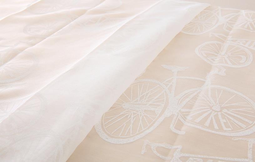 メンズカーテン ベイライフ ボイルレース 〜サイクル〜 ナチュラルホワイト
