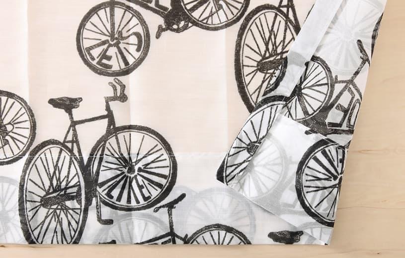 メンズカーテン ベイライフ ボイルレース 〜サイクル〜 ブラック