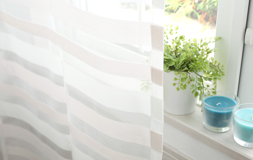 メンズカーテン ベイライフ オパールレース 〜スロー〜 ホワイト