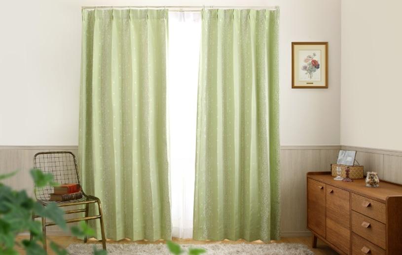 ジャカードカーテン 〜ベスク〜 グリーン