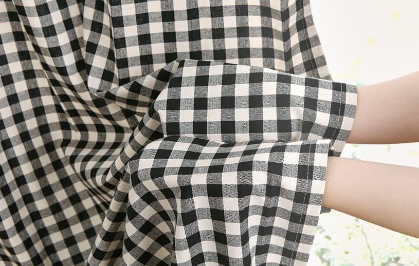 リネンカーテン 〜シュシュ〜 ブラック