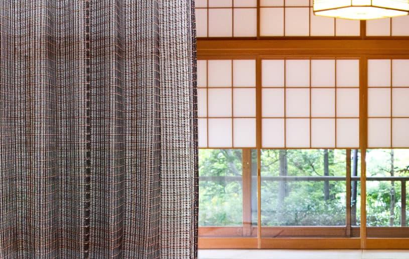 レースカーテン ベイシア〜伊吹(いぶき)〜 ダークブラウン