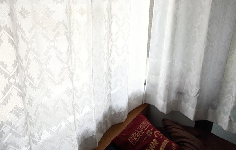 メンズカーテン ネイティブ レースカーテン 〜エカ〜 アイボリー