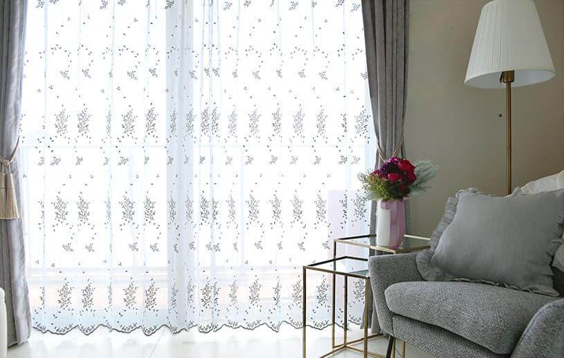 レースカーテン ~シャルマン~ 白(ホワイト)