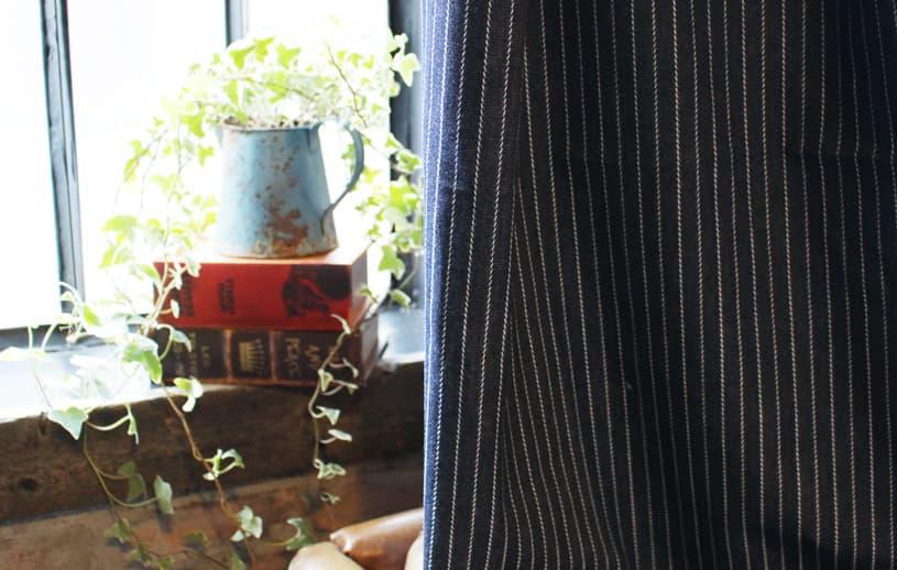 メンズカーテン デニム 〜カルロス〜 インディゴピンストライプ