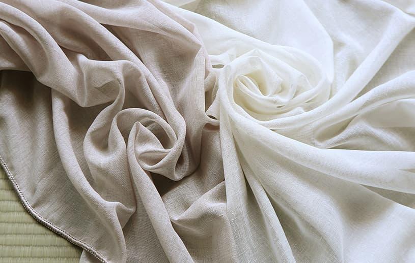 レースカーテン ~風の音~白(ナチュラル)