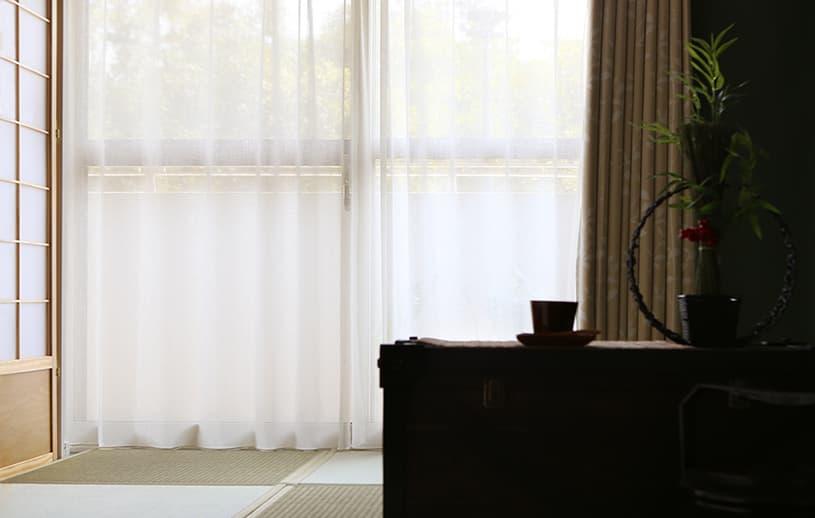 和室におすすめのレースカーテン