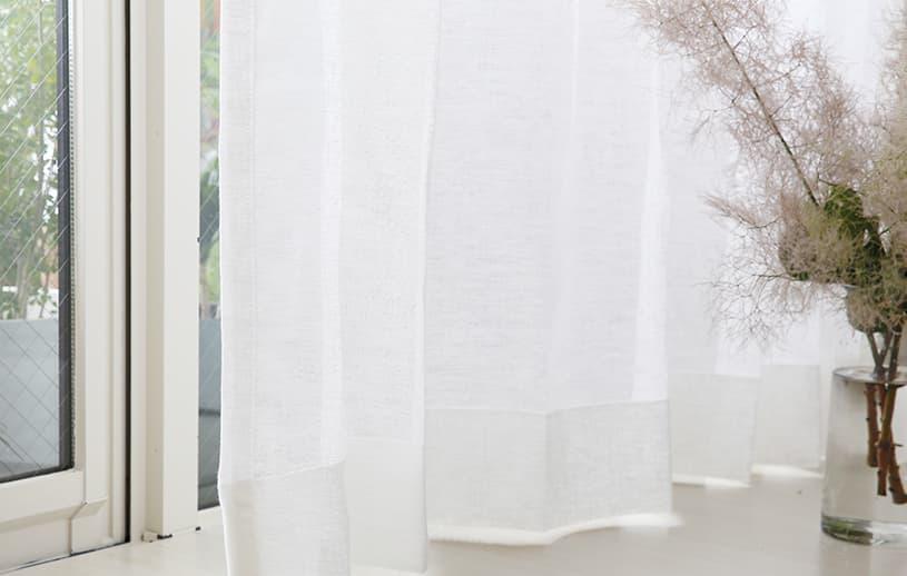リネンカーテン 〜アラバスター〜 ホワイト
