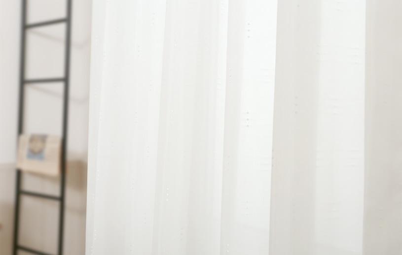 レースカーテン 白(ホワイト) プライバシーレース アンフォルメ ドロップ