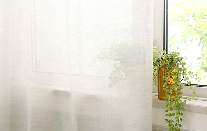 掃き出し窓用レースカーテン