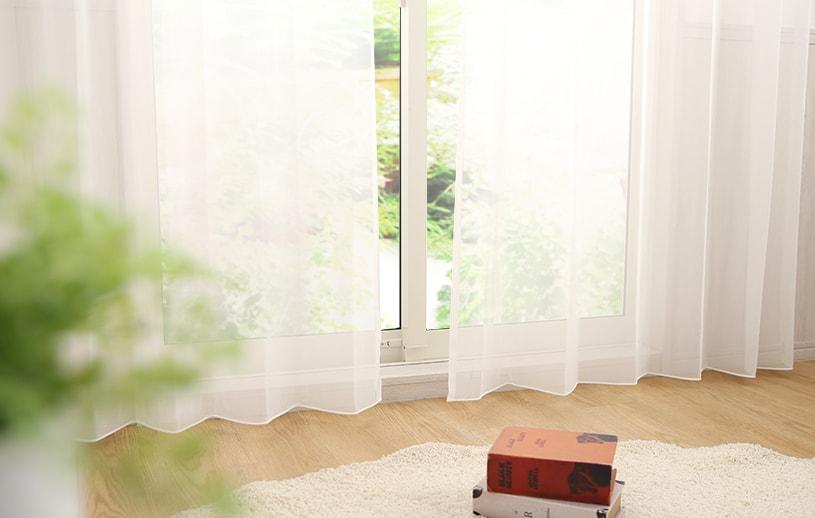 レースカーテン(腰窓)