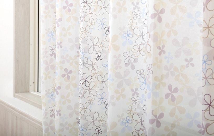 スーパーアウトレット レースカーテン 〜フィオリトゥーラ〜 ブラウン