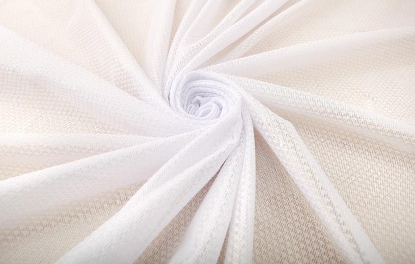 レースカーテン 白(ホワイト) スクアーマ