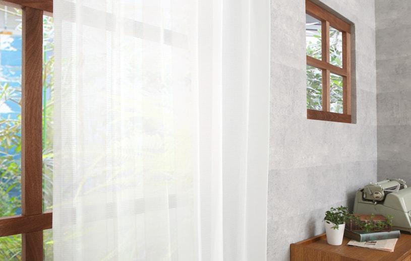 スミノエ コルネ レースカーテン 〜スリット〜 ナチュラルホワイト