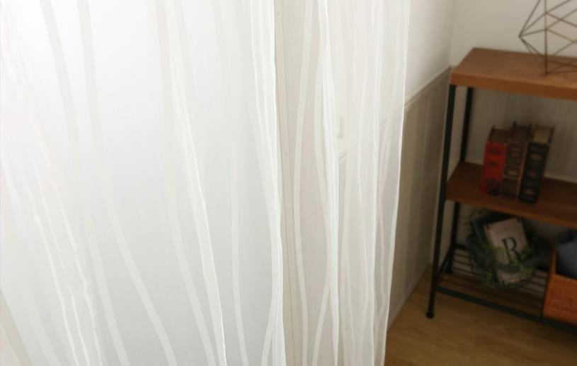 レースカーテン 白(ナチュラルホワイト) スミノエ コルネ クレープ