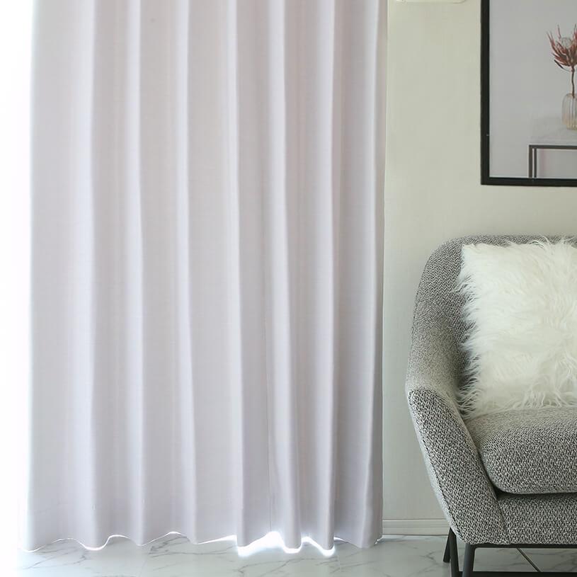 白く上質なカーテン~スノー~ホワイト