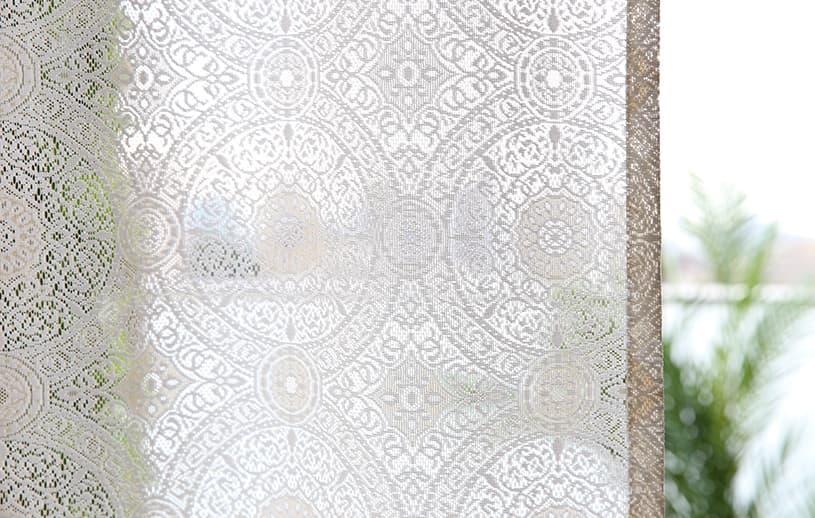 ネイティブ レースカーテン ~メーベル~ ベージュ