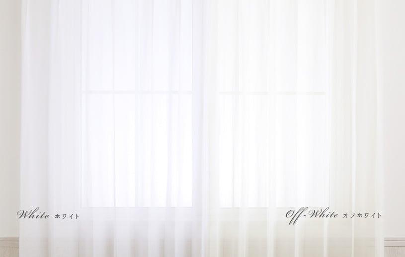 レースカーテン 白(ホワイト・オフホワイト)