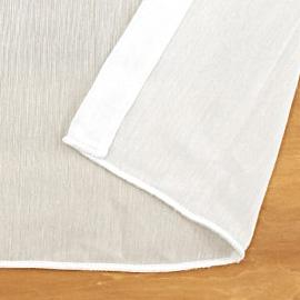 レースカーテン 白(オフホワイト・ホワイト)  ボイルレース フルーエント