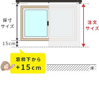 カーテンのサイズは窓枠下からプラス15センチがオススメ