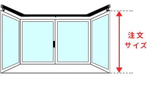 出窓天井付け付けのサイズの採寸方法