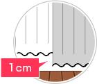 レースカーテンはドレープカーテンのマイナス1センチを推奨します