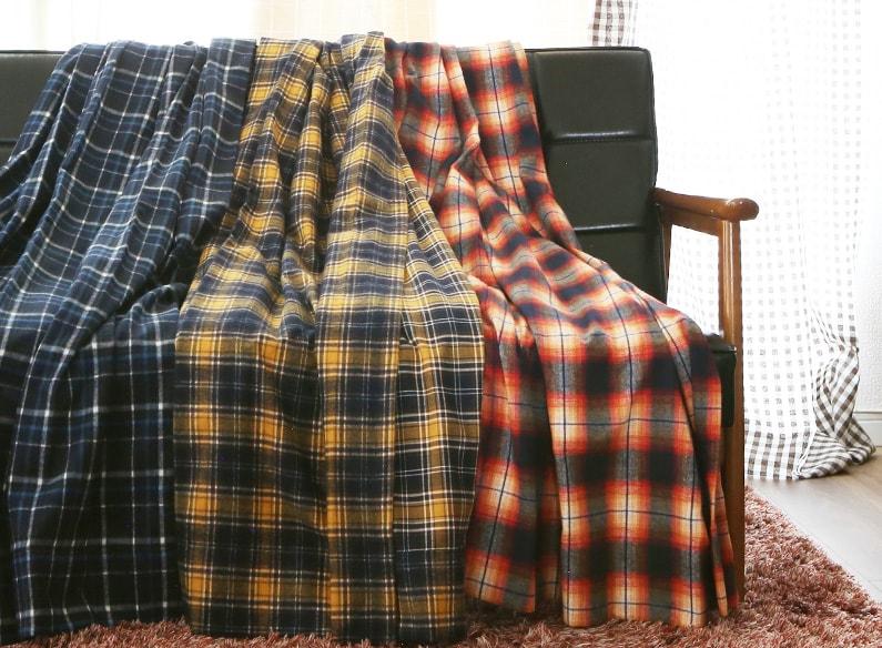 【冬の新作】ネルシャツ×カーテン<br />上級者コーディネートで今季のトレンドをお部屋にも♪