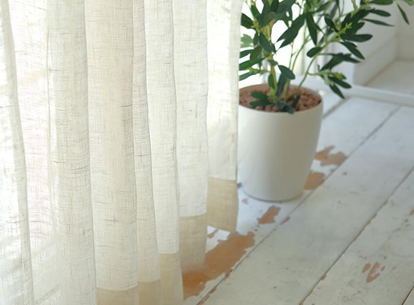 梅雨の時期のカーテンは、湿気を吸収するリネン素材が効果大!