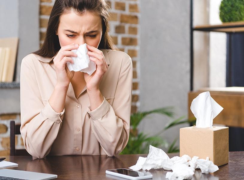 喘息・アトピー・ハウスダストアレルギー・花粉症の方必見!ラグを敷いてアレルギー対策!