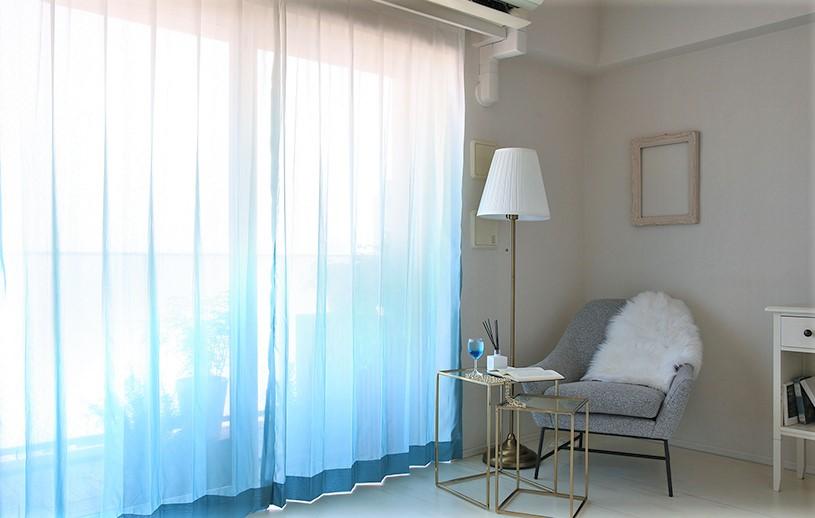 グラデーションカーテンなら叶う!ワンランク上の色を楽しむおしゃれインテリア